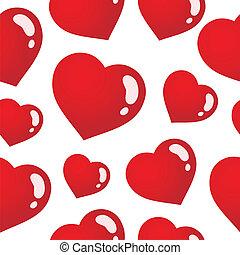 serca, 3, seamless, tło