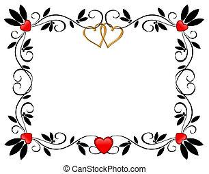 serca, brzeg, valentine