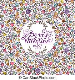 serca, kwiaty, karta, list miłosny, motyle