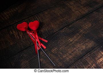 serca, list miłosny, dwa