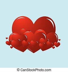 serca, miłość, valentine
