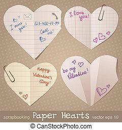 serca, papier