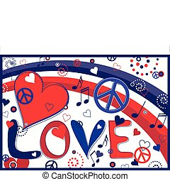 serca, pokój, miłość
