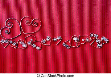 serca,  quilling, papier, Dzień, valentine