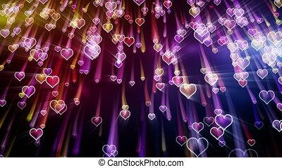 serca, spadanie, romantyk, pętla, wstecz
