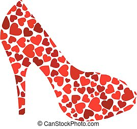 serca, sztylet, czerwony