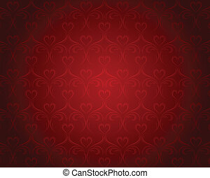 serca, tła, valentine