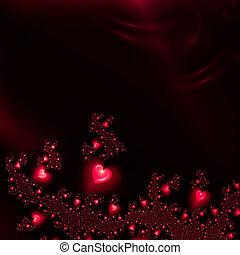 serca, tło, czerwony