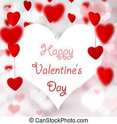 serca, valentine, tło.