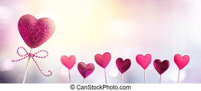 serca, womens, dzień, tło, 8