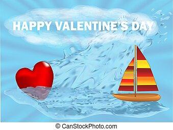 serce, łódka