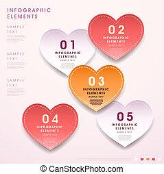 serce, abstrakcyjna forma, skuwka, infographics, 3d