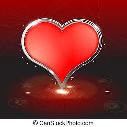 serce, abstrakcyjny, dzień, tło, valentine
