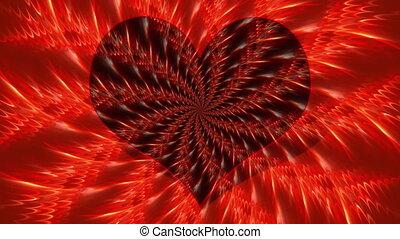 serce, abstrakcyjny, kwiat, -