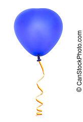 serce, balloon, chorągiew, mający kształt