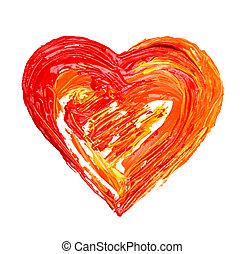 serce, barwiony
