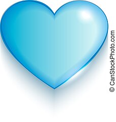 serce, białe tło, valentine