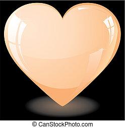 serce, brzoskwinia