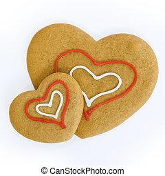serce, ciasteczka, mający kształt