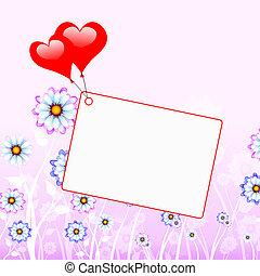 serce, copyspace, valentine, copy-space, dzień, widać