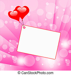 serce, copyspace, valentine dzień, przywiązanie, widać