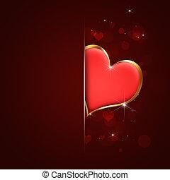 serce, czerwona karta, valentine