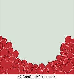 serce, czerwone tło