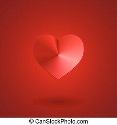 serce, czerwony, valentine