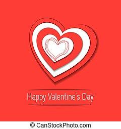 serce, day., card., papier, święto, list miłosny