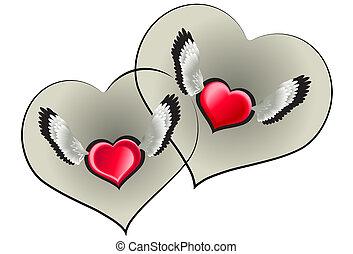 serce, dwa