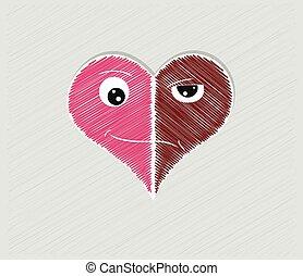 serce, dwa, twarze