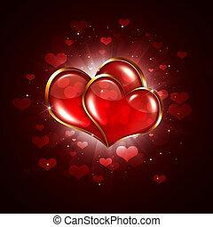serce, dwa, valentine