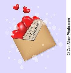 serce, dzień, czerwony, valentine