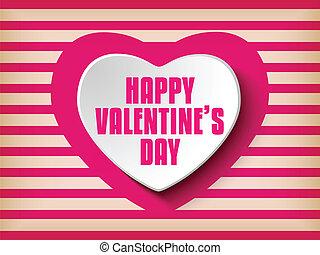 serce, dzień, retro, tło, valentine