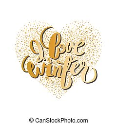 serce, graficzny, zima