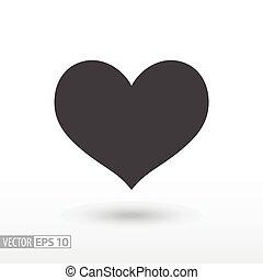serce, heart., płaski, ruchomy, znak, wektor, sieć, infographics, logo, icon., projektować