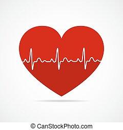 serce, icon., wektor, illustration.