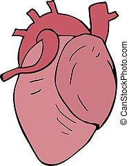 serce, ilustracja, projektować
