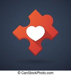 serce, intrygować kawał, ikona
