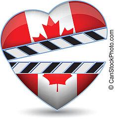 serce, kanada bandera