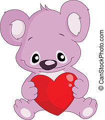 serce, koala, dzierżawa