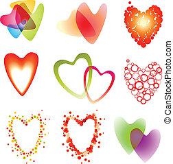 serce, komplet, dziewięć