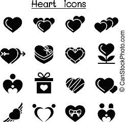 serce, komplet, ikona