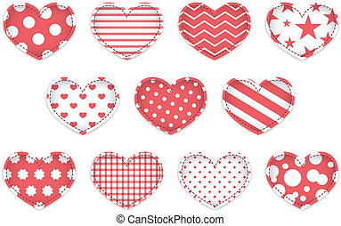 serce, komplet, valentine