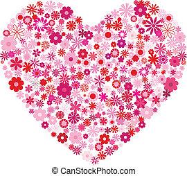 serce, kwiaty