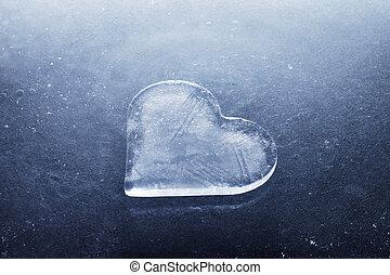 serce, lód