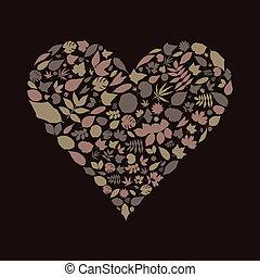 serce, liść