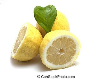 serce, liść, cytryny