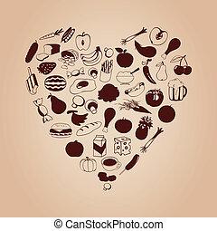 serce, mąka