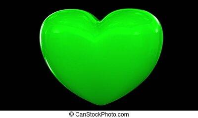 serce, miłość, pobicie, puls, valentine, płeć, rocznica, para, romans, datując, pętla, 4k